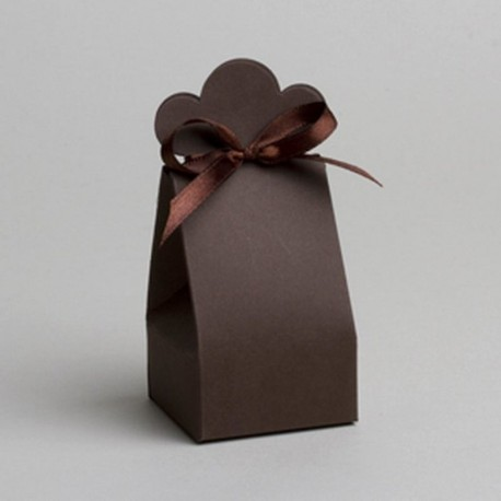 Contenant dragées nuage chocolat