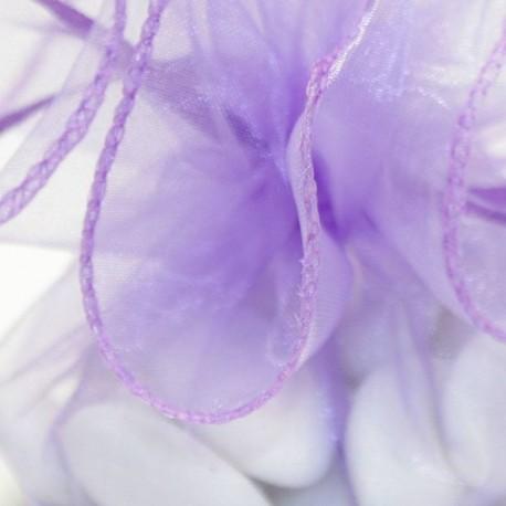Tulle a dragées lilas avec attache pas cher baptême