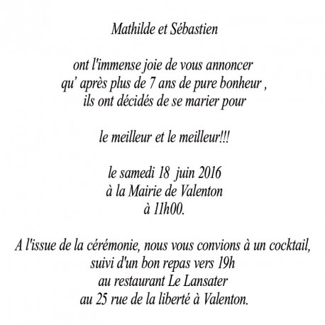 Faire part mariage gay