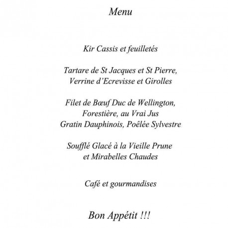 carte menu theme colombe