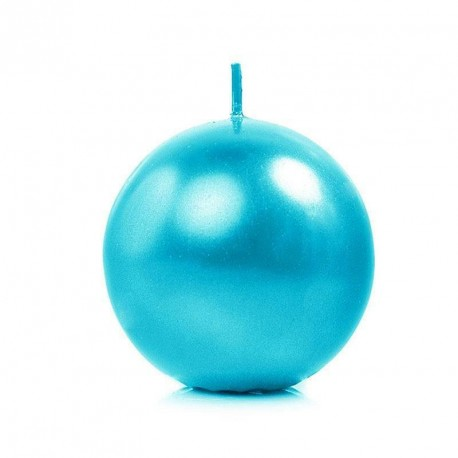 Bougie boule turquoise 6cm