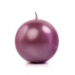 Bougie boule prune 6cm