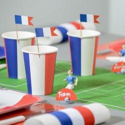 10 gobelets thème France