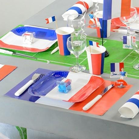 Set de table thème mariage France tricolore