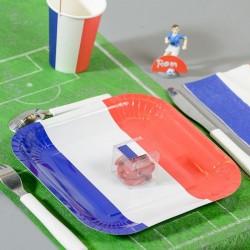 10 assiettes thème mariage France tricolore