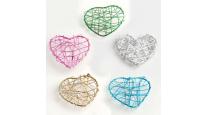 Coeur en fil métal