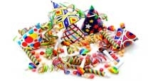 Cotillons et accessoires de fêtes